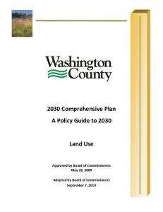 2030 Comprehensive Plan A Policy Guide to 2030