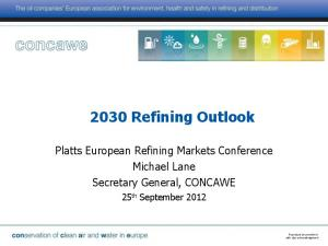 2030 Refining Outlook