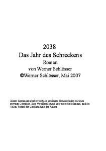 2038 Das Jahr des Schreckens