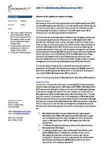 20411D: Administering Windows Server 2012