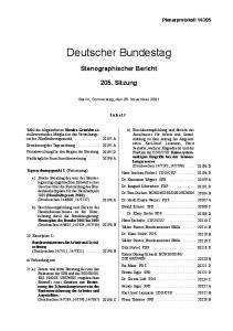 205. Berlin, Donnerstag, den 29. November 2001