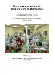 20th Annual Asian Course in Temporal Bone and Ear Surgery