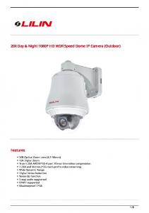 20X Day & Night 1080P HD WDR Speed Dome IP Camera (Outdoor)