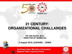 21 CENTURY: ORGANIZATIONAL CHALLANGES