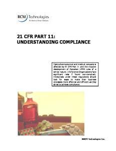 21 CFR Part 11: Understanding Compliance
