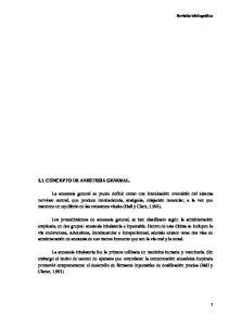 2.1. CONCEPTO DE ANESTESIA GENERAL