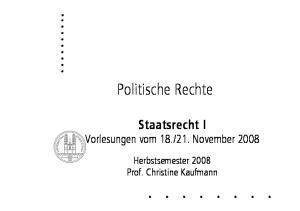 21. November Herbstsemester 2008 Prof. Christine Kaufmann