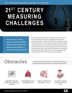 21 st Century Measuring Challenges