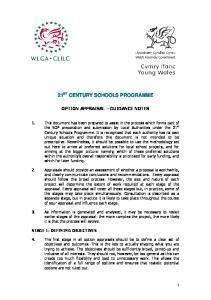 21 ST CENTURY SCHOOLS PROGRAMME