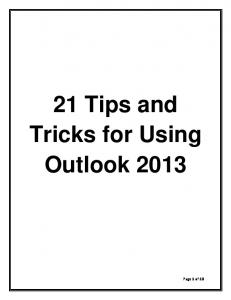 21 Tips and Tricks for Using Outlook 2013