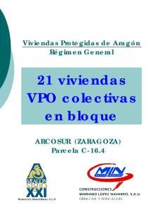 21 viviendas VPO colectivas en bloque