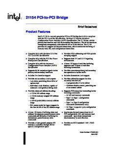 21154 PCI-to-PCI Bridge
