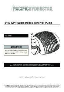 2150 GPH Submersible Waterfall Pump