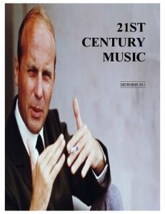 21ST CENTURY MUSIC DECEMBER 2012