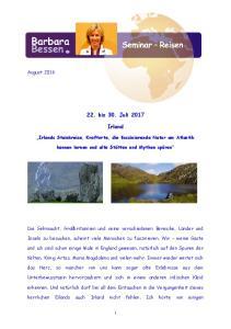 22. bis 30. Juli Irland