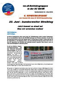 22. Juni - bundesweiter Streiktag