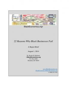22 Reasons Why Black Businesses Fail