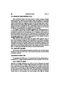 2.2 REMOTE PROCEDURE CALL