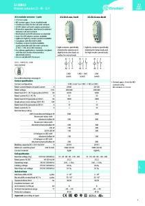 22 SERIES. Modular contactors A