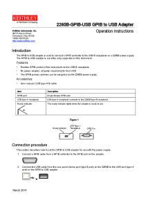 2260B-GPIB-USB GPIB to USB Adapter