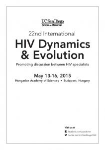 22nd International HIV Dynamics & Evolution