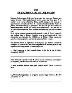 #23 EL SIGNIFICADO DE LOS 144,000
