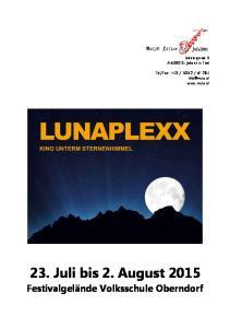 23. Juli bis 2. August 2015