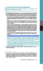 2.3 SISTEMA NACIONAL DE PENSIONES