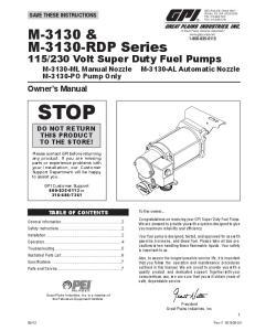 230 Volt Super Duty Fuel Pumps