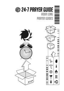 24-7 Prayer Guide. Hour long prayer guides