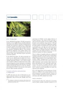 2.4 Cannabis. Cannabis cultivation and production in Afghanistan