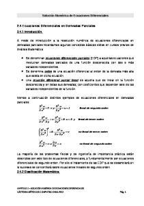 2.4 Ecuaciones Diferenciales en Derivadas Parciales