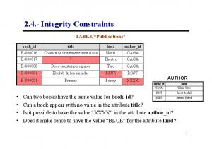 2.4.- Integrity Constraints