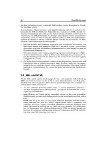 2.4 XML und HTML. 26 Das XML-Konzept