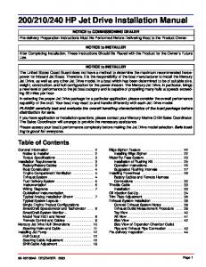 240 HP Jet Drive Installation Manual