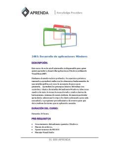 2403: Desarrollo de aplicaciones Windows