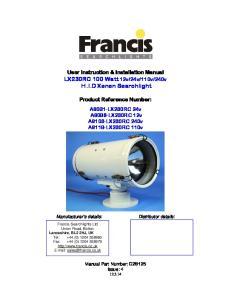 240v H.I.D Xenon Searchlight