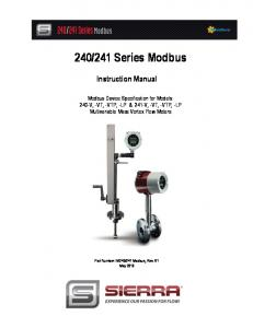 241 Series Modbus Instruction Manual