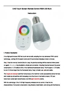 2.4G Touch Screen Remote Control RGB LED Bulb. Instruction