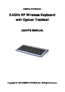 2.4GHz RF Wireless Keyboard with Optical Trackball