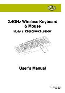 2.4GHz Wireless Keyboard & Mouse
