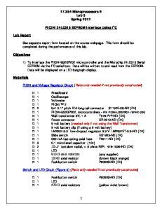 24LC515 EEPROM Interface Using I 2 C