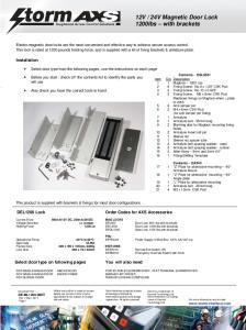 24V Magnetic Door Lock 1200lbs with brackets