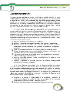 2.5. BIENESTAR UNIVERSITARIO