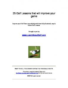25 Golf Lessons that will improve your game