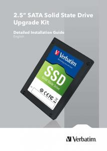 2.5 SATA Solid State Drive Upgrade Kit. Detailed Installation Guide English