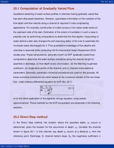 25.1 Computation of Gradually Varied Flow