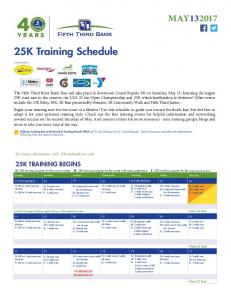 25K Training Schedule