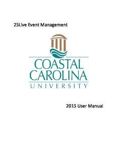25Live Event Management User Manual