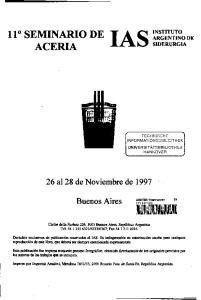 26 al 28 de Noviembre de Buenos Aires